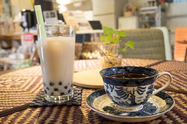 十文字カフェで一休み