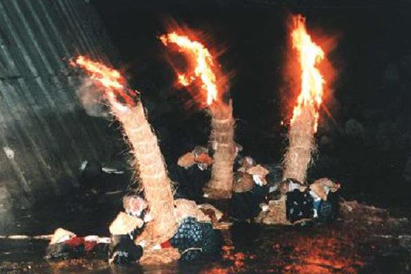 大川原の火流し